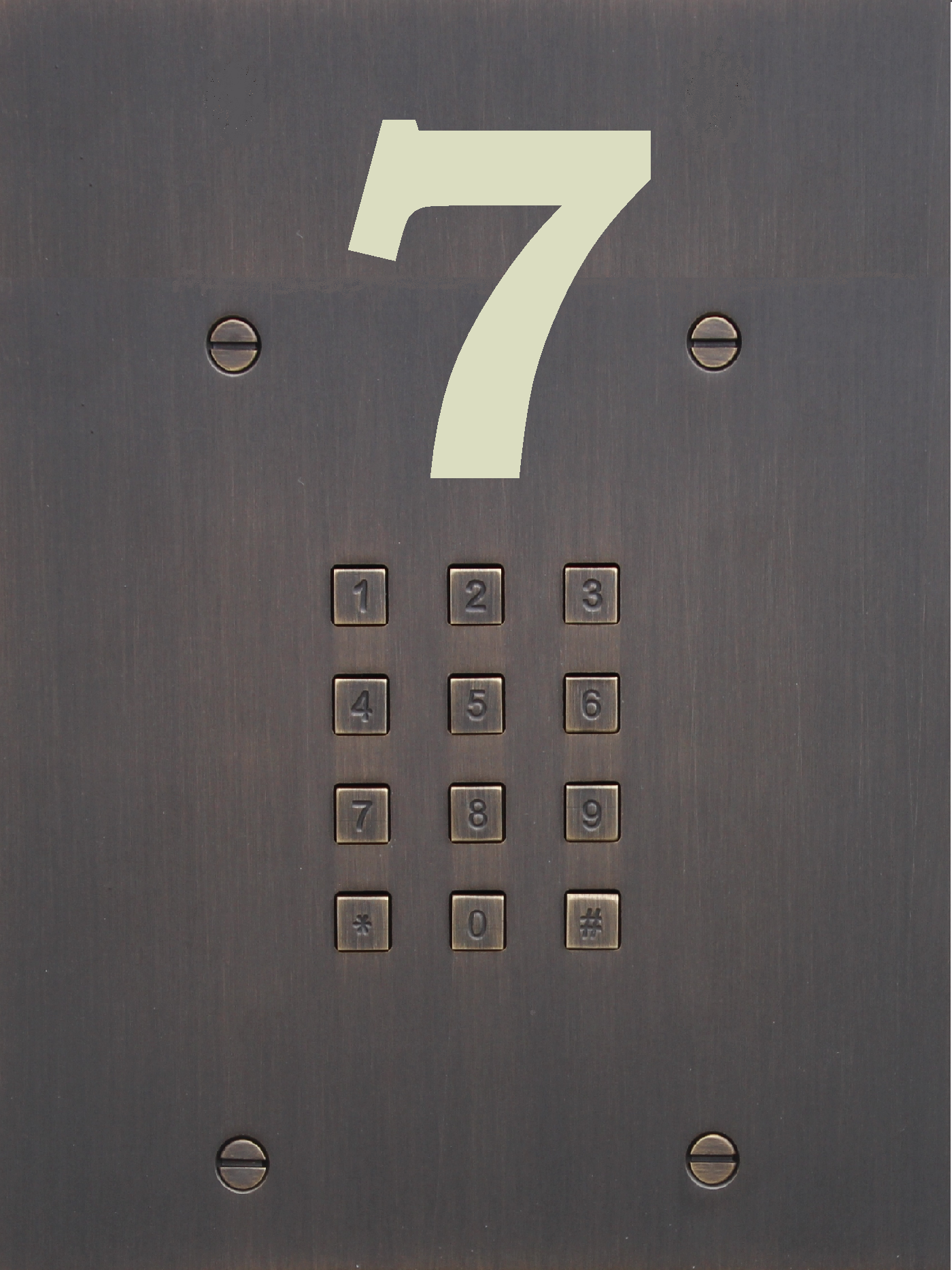 Fasttel access keypad FT24K bronze extensions: ekey finger print reader FT25NAME