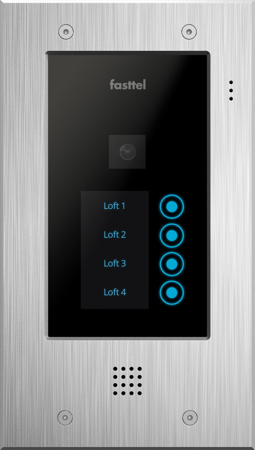Fasttel Wizard Elite ft2504IP, de ultieme video intercom. Spitstechnologie in topdesign