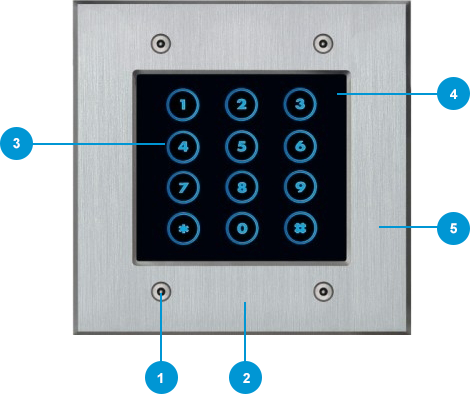 Access keypad FT25K silver specs
